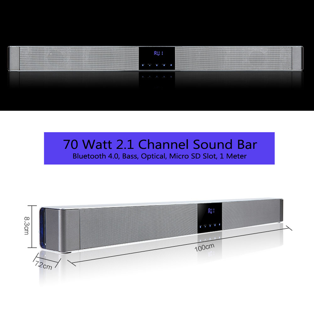 39 Inch 70 Watt 2 1 Channel Sound Bar Sound Wave - J&D Ship