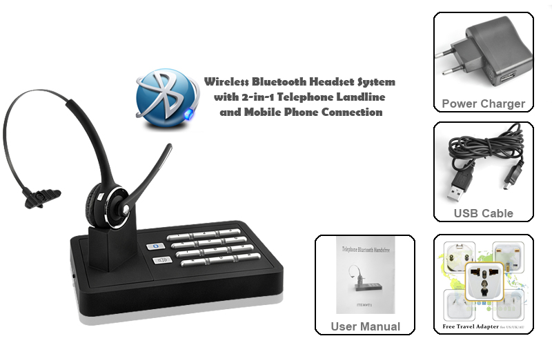 Handsfree Wireless Bluetooth Headset System - J&D Ship Group